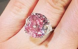 Cận cảnh chiếc nhẫn kim cương hồng vừa lập kỷ lục đấu giá tại Sotheby's