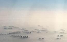 Bạn nghĩ đây là chốn bồng lai tiên cảnh trong truyền thuyết? Sai bét, là Bắc Kinh ô nhiễm nhìn từ trên xuống đấy!