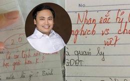 """Thầy giáo trẻ ĐH Vinh và loạt lời phê bá đạo: """"Nhan sắc tỷ lệ nghịch với chữ viết"""""""
