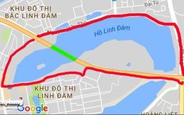 Toàn cảnh khu vực dự định xây cầu vượt hồ Linh Đàm Xã hội