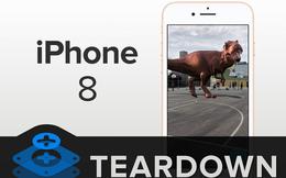 """""""Mổ bụng"""" chiếc iPhone 8 - Lưng kính rất bền nhưng đã vỡ thì gần như khỏi sửa!"""