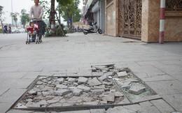 Sau một thời gian ngắn đi vào sử dụng, đá lát vỉa hè Hà Nội được quảng cáo bền tới 70 năm đã hư hỏng hàng loạt