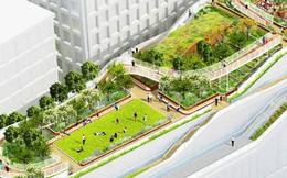 """Chiêm ngưỡng văn phòng """"cao ốc nằm ườn"""" của Google, có cả công viên trên sân thượng"""
