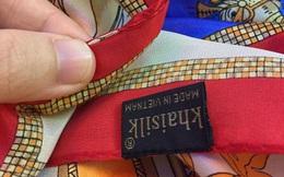 Kiểm định khăn lụa mua ở Khaisilk bị tố 'nhập nhèm xuất xứ'