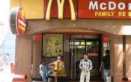 Gần như tất cả các cửa hàng McDonald's ở thủ đô New Delhi vừa phải đóng cửa