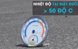 [Video] Nắng nóng khủng khiếp ở Hà Nội, mẹ mang giường cho con nằm dưới đường trên cao
