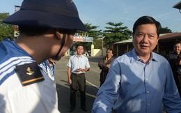 Hình ảnh Bí thư Đinh La Thăng tiễn tân binh lên đường nhập ngũ tại Tp.HCM