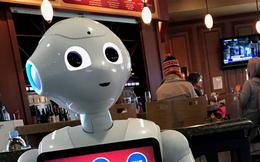 Robot bán bia và burger tại sân bay