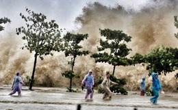 [ẢNH] Bão số 10 vào bờ: Bãi biển Sầm Sơn tan hoang trong sóng dữ