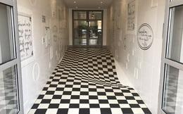 Đỉnh cao sáng tạo: dùng ảo ảnh để ngăn người ta chạy trong hành lang