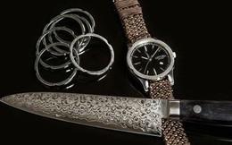 Đây là chiếc đồng hồ được tạo nên từ kỹ thuật rèn kiếm 700 năm tuổi của Nhật Bản