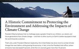 Tân Tổng thống Donald Trump thay cam kết chống biến đổi khí hậu của ông Obama bằng ... cam kết khoan nhiều giếng dầu hơn
