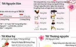 [Infographics] Những ngày Tết cổ truyền của Việt Nam