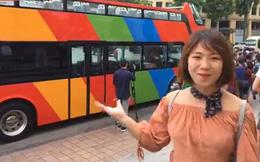 Video: Xe buýt 2 tầng city tour chạy thử nghiệm trên nhiều tuyến phố của Thủ đô