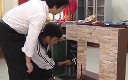 Hệ thống chống ngập, giúp dân đỡ khổ mùa lũ của HS trường Phan (Nghệ An) giành giải Nhất cuộc thi khoa học