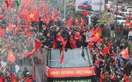 Bầu Đức, bầu Hiển… ở đâu trên chiếc xe diễu hành của U23 Việt Nam?
