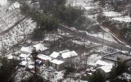 Sa Pa bất ngờ xuất hiện tuyết rơi dày đặc trong sáng nay