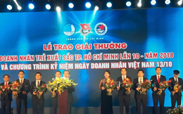 """17 doanh nhân được vinh danh trong lễ trao giải thưởng """"Doanh nhân trẻ xuất sắc Tp.HCM lần 10 năm 2018"""""""