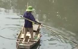 Clip: Cá chép tiễn Táo quân vừa bơi tới cầu Diễn đã bị chích điện lôi lên bờ