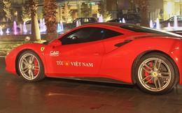 Ca sĩ Tuấn Hưng lái siêu xe Ferrari 488 GTB đưa vợ con tham dự tiệc tiền Car & Passion 2018