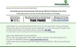 Vietcombank: Website không bị hack, 2 câu Kiều chế xuất hiện do sơ suất kỹ thuật