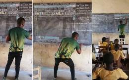 Microsoft chơi lớn, tặng 27 laptop cùng nhiều thiết bị khác cho thầy giáo dạy MS Word bằng cách vẽ lên bảng