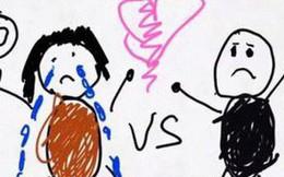 Xúc động nghẹn ngào trước bộ tranh nguệch ngoạc do cậu bé 6 tuổi vẽ lại toàn bộ quá trình ly hôn của bố mẹ