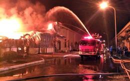 Đang cháy lớn tại khu công nghiệp ở Quảng Ninh