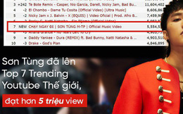 """Sau 10 tiếng, MV """"Chạy Ngay Đi"""" của Sơn Tùng M-TP lọt Top 10 video được xem nhiều nhất thế giới"""