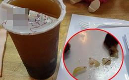 """Một nhóm khách quay clip lấy """"dị vật"""" nghi trứng gián trong ly trà đào: Nhiều người hoài nghi, Công ty trà sữa nổi tiếng đang xác thực thông tin"""