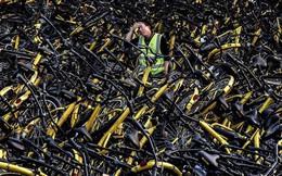 """Hãi hùng ngắm nhìn """"mồ chôn tập thể"""" của hàng triệu chiếc xe đạp tại Trung Quốc"""