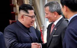Hé lộ hình ảnh đầu tiên của ông Kim Jong-un tại sân bay Singapore