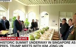 Bữa trưa đầu tiên của ông Kim Jong Un và ông Trump đơn giản tới khó ngờ