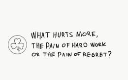 Vì sao nên chọn 'nỗi đau vì quá nỗ lực làm việc' thay vì 'nỗi đau vì quá hối tiếc'?