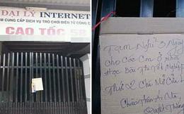 Thấy tấm biển treo trước cửa hàng net, nhiều người quay lưng bỏ đi nhưng miệng tủm tỉm cười