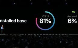 Thật ra thị phần Android Oreo còn chẳng tới được 6% như Apple chê tại sự kiện WWDC 2018