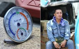 """Clip """"choáng"""" với cái nóng hừng hực của Hà Nội: Nhiệt kế trên nắp capo ô tô lên 50 độ C, dân công sở """"sốc nhiệt"""" khi ra khỏi văn phòng"""