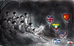 Những bức tranh dễ thương và ý nghĩa của dân mạng về hành trình giải cứu đội bóng Thái mắc kẹt