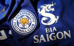 Logo bia Saigon xuất hiện trên áo đấu Leicester City tại Ngoại hạng Anh