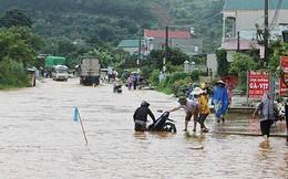 Nhiều đường quốc lộ thành biển nước, nhà cửa, hoa màu ngập úng do mưa lũ