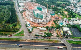 Cận cảnh tiến độ xây dựng dự án bệnh viện 5.800 tỷ đồng, hiện đại bậc nhất đang xây dựng tại khu Đông (Tp.HCM)