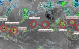 """9 cơn bão xuất hiện cùng lúc, chuyên gia cảnh báo điểm """"bất thường"""""""