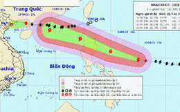 Đêm 16/9, siêu bão Mangkhut vào vịnh Bắc bộ sẽ gây gió giật cấp 14-15