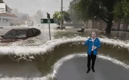 Bằng công nghệ AR, kênh thời tiết Mỹ mô phỏng lại mức lũ của bão Florence khiến người xem vừa sợ vừa thích thú