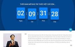 Hệ tri thức Việt số hóa sẽ chính thức được khởi động vào ngày 1/1/2018