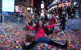 New York chào năm mới với 50 tấn rác