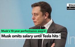 Cách cổ đông Tesla trả lương cho Elon Musk: Cho hạn 10 năm, giá cổ phiếu tăng thì CEO thành tỷ phú, bằng không thì coi như làm thuê không công 1 thập kỷ