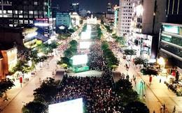 """TP. HCM: 5 màn hình LED """"khủng"""" trên Phố đi bộ Nguyễn Huệ đã sẵn sàng phục người dân xem đội tuyển Việt Nam tại AFF Cup"""