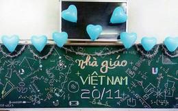 """""""Không lẫn đi đâu được"""" với những màn trang trí bảng 20/11 theo đúng môn dạy của GVCN"""