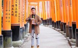 """Chàng du học sinh Nhật mang di ảnh bố mẹ đi khắp thế gian: """"Ba má ơi, mình đi đâu tiếp?"""""""